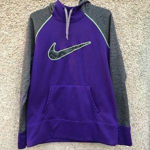 Nike Therma-Fit Hoodie Sweatshirt Swoosh Knit Top